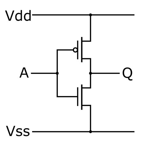 transistor not gate inverter cmos