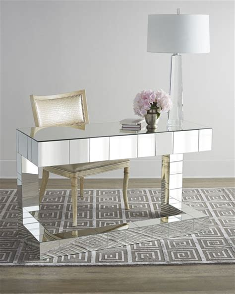 mirrored writing desk andrew design quinlan mirrored writing desk