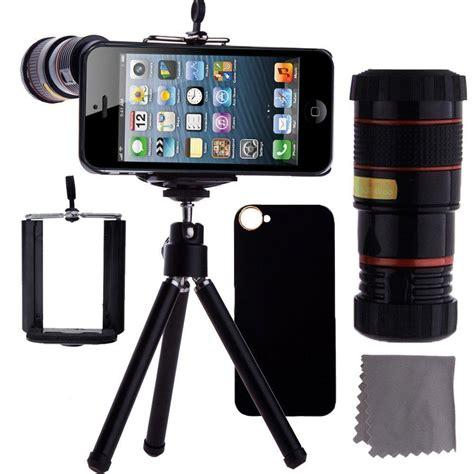 Tellezoom 8x Universal Plus Tripod Plus Holder All Smartphone camkix iphone 5 lens kit 8x telephoto lens mini tripod universal phone
