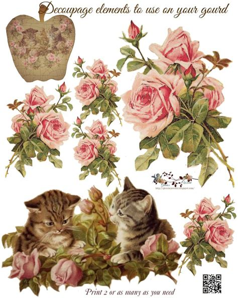 Printable Decoupage - 98 best 3d decoupage cats images on 3d cards