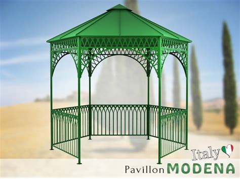 pavillons metall pavillon metall gartenlaube gazebo modena ausgefallen
