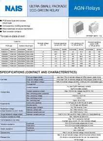 agn200a4h datasheet relay pcb dpco 12vdc