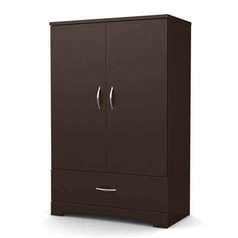 Shore Armoire by South Shore Step One Armoire In Chocolate 3159037