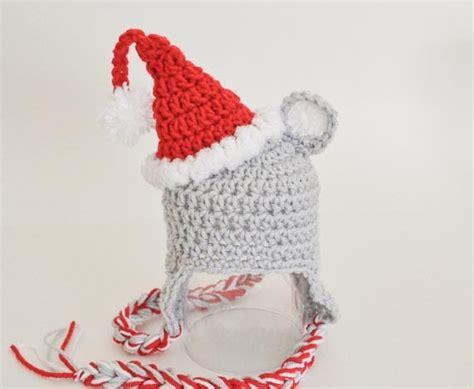 crochet pattern christmas mice crochet for free christmas mouse hat newborn