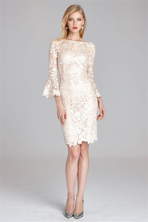 Bell Sleeve Lace Dress lace bell sleeve sheath dress teri jon