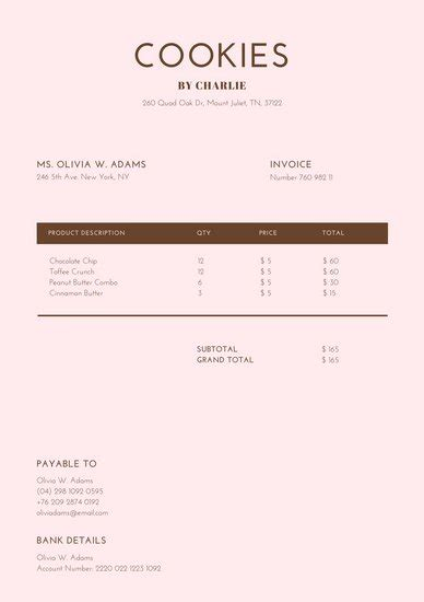Canva Take Yoru Receipt Template by Product Invoice Template Labor Invoice Template