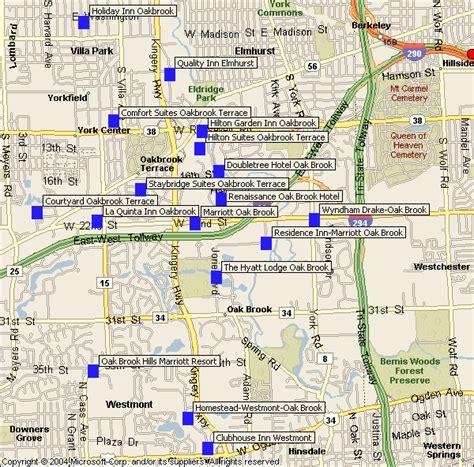 oakbrook mall map oak brook hotels map