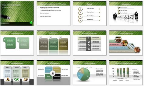 powerpoint technical presentation templates powerpoint green technology template