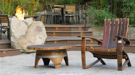 wine barrel outdoor furniture the timeless style of reclaimed wood furniture hungarian workshop