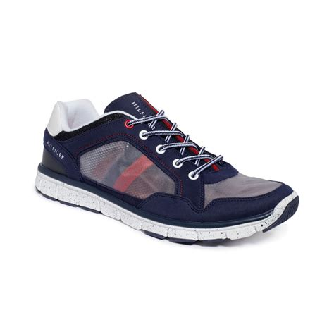 hilfiger sneakers mens hilfiger krone sneakers in blue for lyst