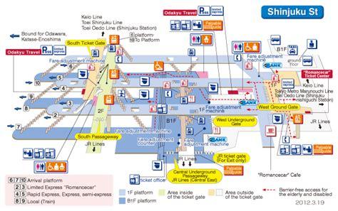 tokyo station floor plan on platform shinjuku station building guide transport