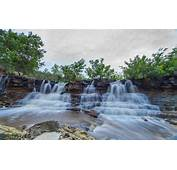 Cascading Waterfalls At Santa Fe Lake Kansas Hd Picture
