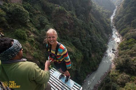 canyon swing nepal bungy canyon swing day trip the last resort in