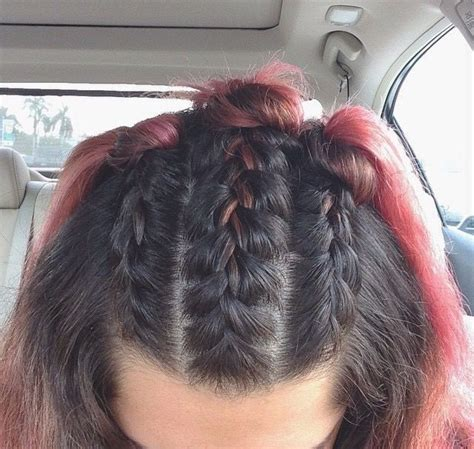 ways you can put braid weave in a donut bun 25 best ideas about cool braids on pinterest braid