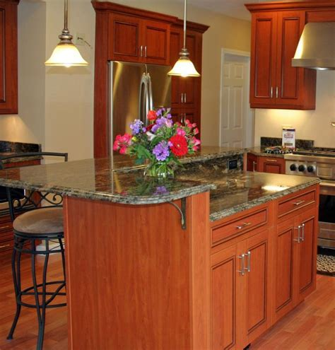 Two Level Kitchen Island. Gallery Of Two Level Maple