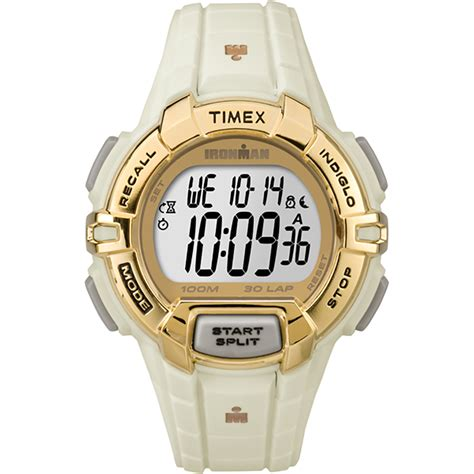 Timex Ironman 30 Rugged by Saapni Timex Ironman 174 Rugged 30 Format Standard Gold White Tw5m06200jv