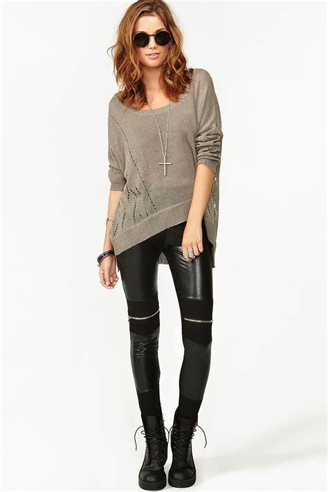 pattern dusky leather leggings dylan moto leggings school wear pinterest the outfit