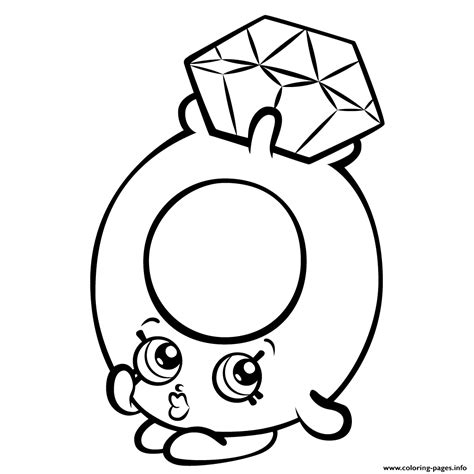 Coloring Pages Of Shopkins Season 3 | roxy ring with diamond shopkins season 3 coloring pages