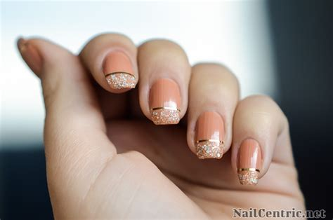 nail art glitter tips tutorial striping tape nailcentric