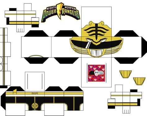 Papercraft Power Rangers - white power ranger by guitar6god on deviantart