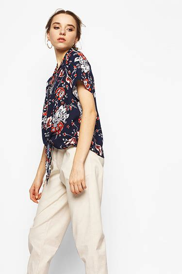Arsy Jumpsuit woven shirt navy printed arsy cottonink