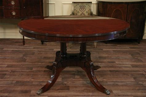mahogany dining table 54 round to oval mahogany dining table with leaves ebay