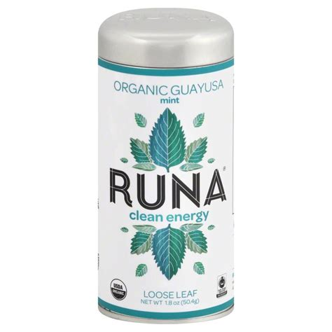 amazon tea runa amazon guayusa tea mint 1 8 ounce jet com