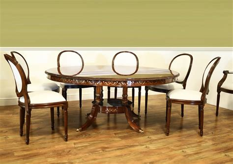 inlaid dining table and chairs luxurious 72 inch walnut and pearl inlaid dining table