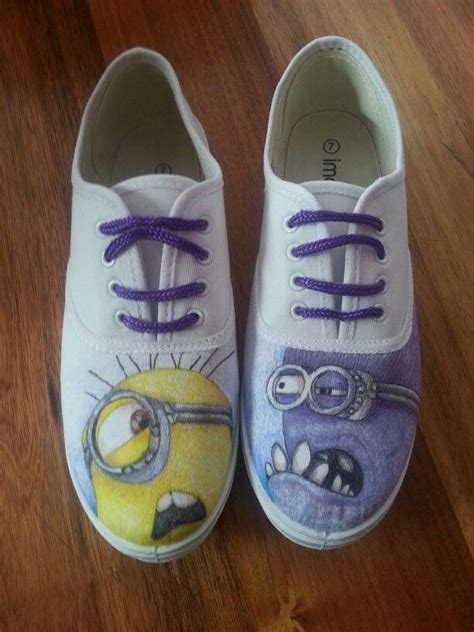 diy minion shoes 40 best diy shoes images on painted shoes