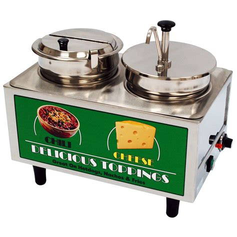 Pastry Food Warmer Standing Panjang 120 Cm benchmark usa 51073a dual 7 qt chili and cheese warmer with ladle and lid 120v 1200w