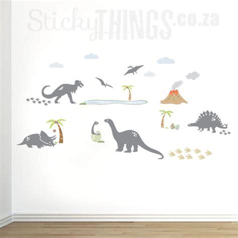 dinosaur wall decals dinosaur wall art from stickythings