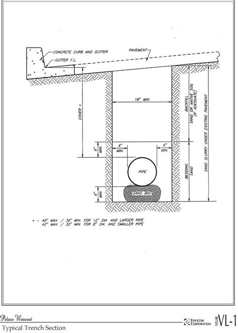 trench drain section palazzo westwood project draft eir