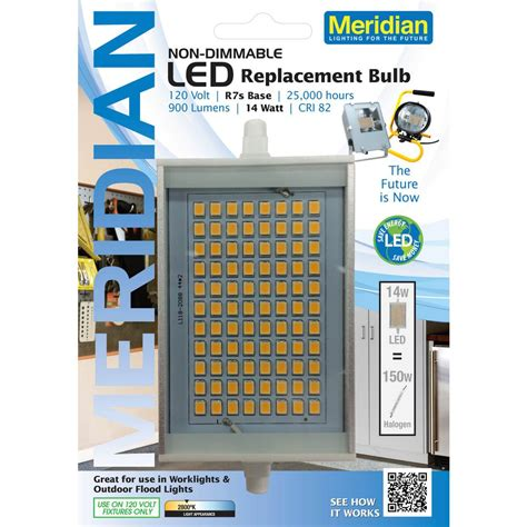 150w equivalent led light bulb meridian 150w equivalent soft white 2800k r7s led light