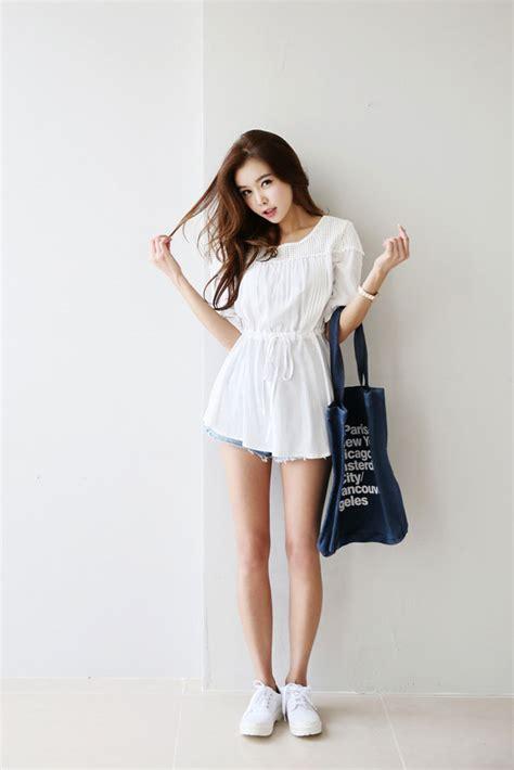 Celana Pendek Gray Summer Casual S Import Original ruffle square blouse korean fashion