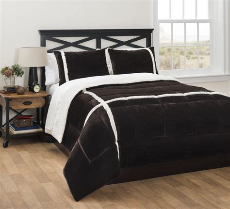 choryl plush sherpa comforter set sears