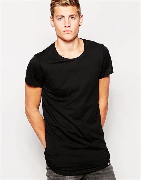 Monday Sleeve T Shirt lyst cheap monday t shirt longline basic cap sleeve in