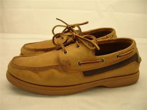 st john s bay boat shoes st john s bay dri lex mens 7 m boat deck shoes tan brown