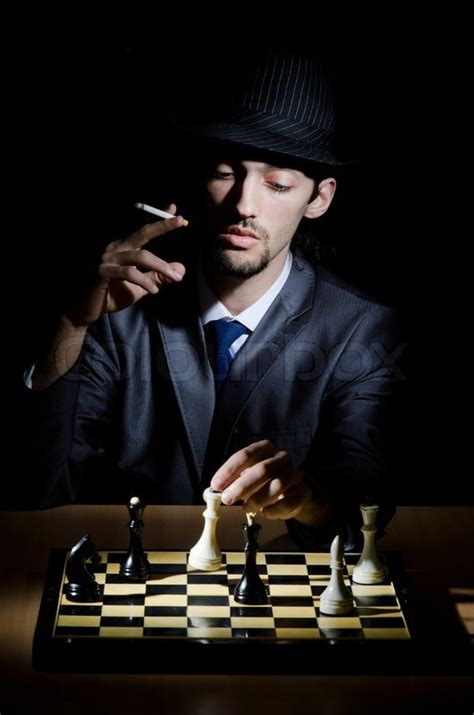 chess player playing  game stock photo colourbox