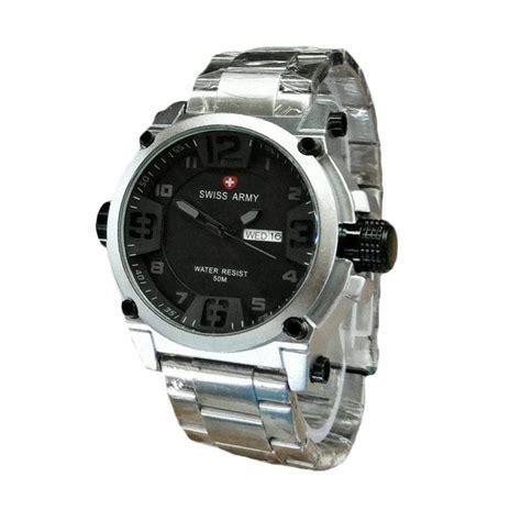 Jam Tangan Swiss Army Sa4127 Black jual swiss army sa 7169 sba jam tangan pria silver black
