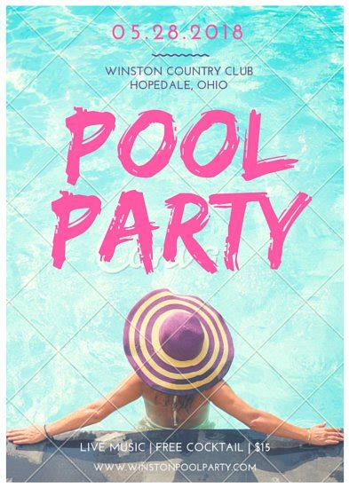 design flyer canva pool party flyer templates by canva