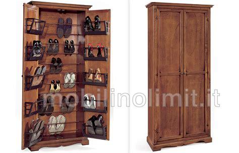 mobili portascarpe porta scarpe noce
