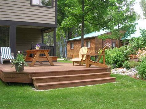 deck in backyard bloombety cheap backyard deck ideas with green cheap