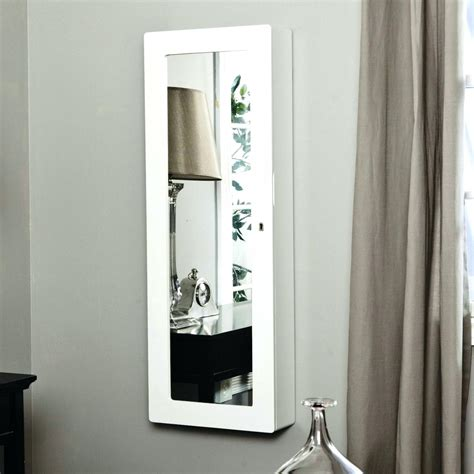 wall mounted full length mirror jewelry cabinet wood cute wall mount jewelry organizer oblacoder
