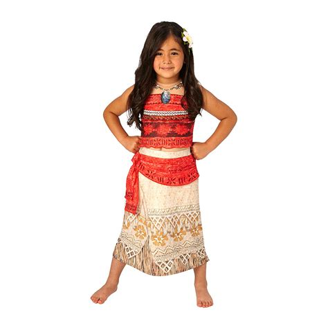 medium costumes disney moana deluxe costume with 3d necklace s medium large gifts n