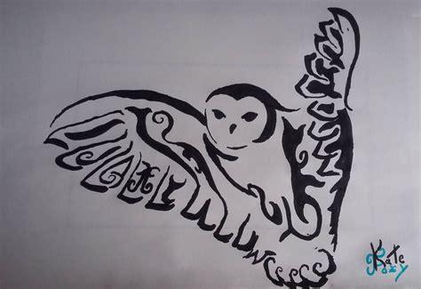 tribal owls tattoos how to draw tribal owl