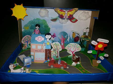 membuat montase tema lingkungan project 2 diorama lingkungan rumah cerita kami