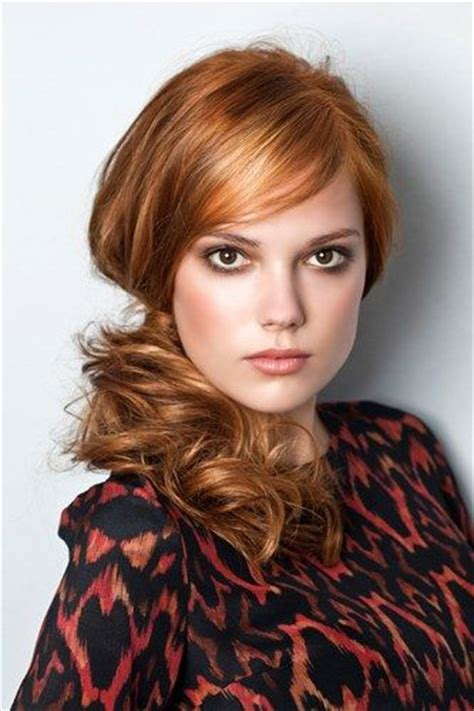 new hairstyle plated two sides red hairstyles curly hair and golden red hair on pinterest