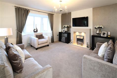 Show Home Living Room by The Groves New Homes In Penyffordd Wimpey
