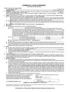 Sle Commercial Lease Agreement by Commercial Lease Agreement Free Printable Documents