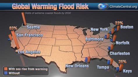 map usa global warming geogarage surging seas maps sea level rise in coastal u s